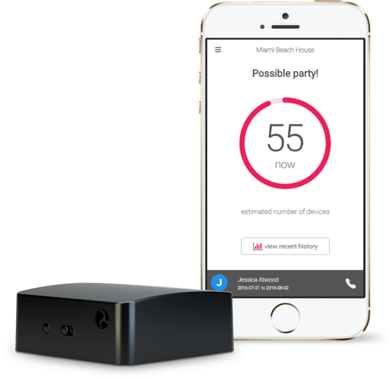 Party Squasher sensor with app