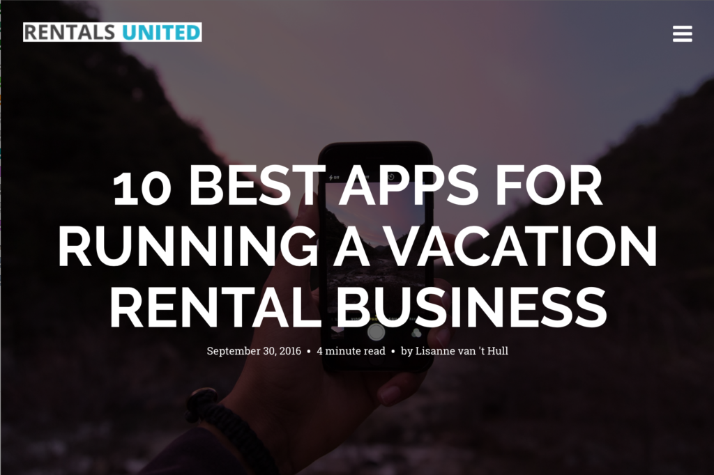 10 best apps for running a vacation rental business